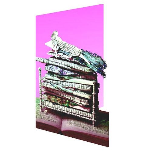 Doppelkarte »Book Art«, Princess and the Pea