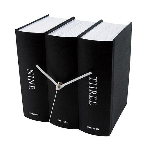 Bücheruhr, schwarz