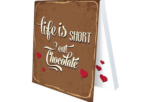 Klebezettel »Life is short«