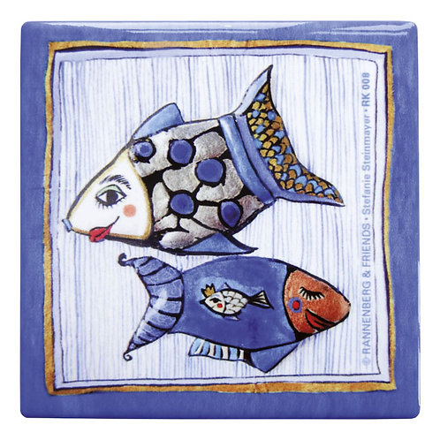 Kachel »Fisch mit Nadelstreifen«