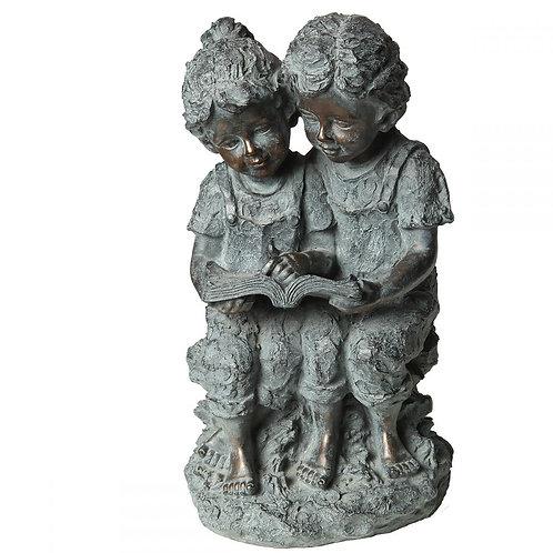Kinder-Statue mit Buch