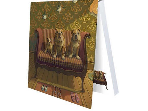 Klebezettel Doggs - Bunte Hunde »Creature Comforts«