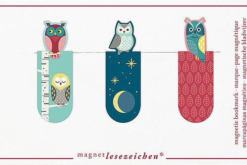 Magnetlesezeichen »Nachteulen«