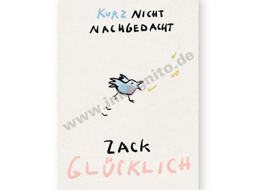 Postkarte »Zack glücklich«