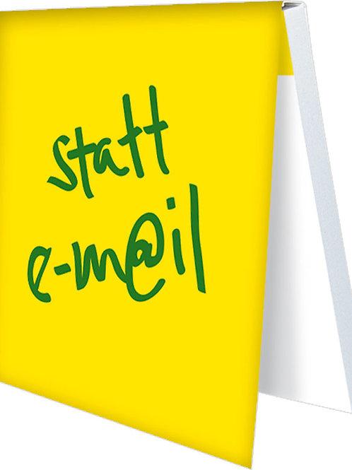 Klebezettel »Statt e-mail«