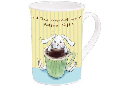 Becher »und Du meinst wirklich Kaffee hilft?«