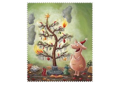 X-mas Brillenputztuch »Weihnachten mit dem Chaos-Schwein«