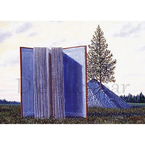 Kunstpostkarte »A Book Tree«