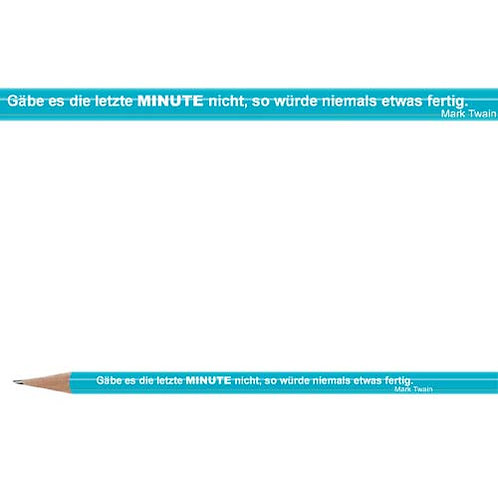 Zitate-Bleistift, Twain, Minute