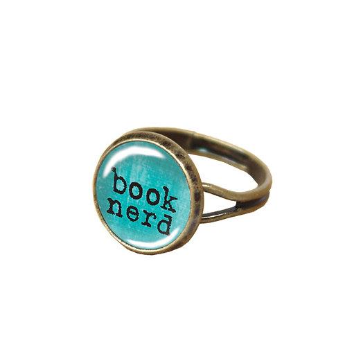 Book-Nerd-Ring, blau