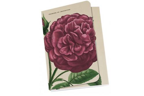 """Taschennotizblöckchen »Blassrote""""Alte Gartenrosen""""«"""