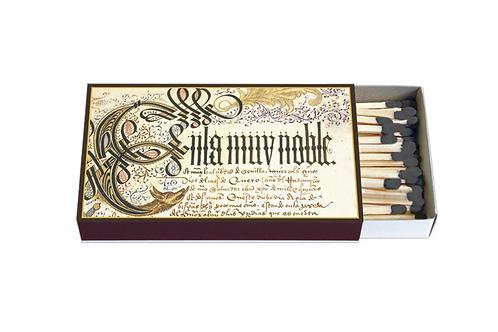 Zündholz-Schachtel »Erste Seite des Privilegienbuches des C. Kolumbus«