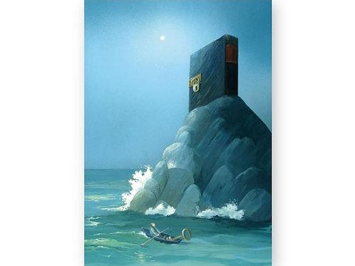 Postkarte »Buchinsel«