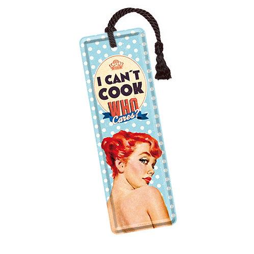 Blech-Lesezeichen »Can't Cook«