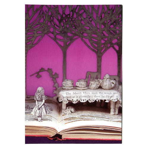 Doppelkarte »Book Art«, A Mad Tea Party