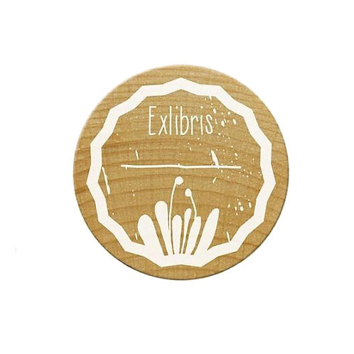 ExLibris-Stempel »Natur«, rund