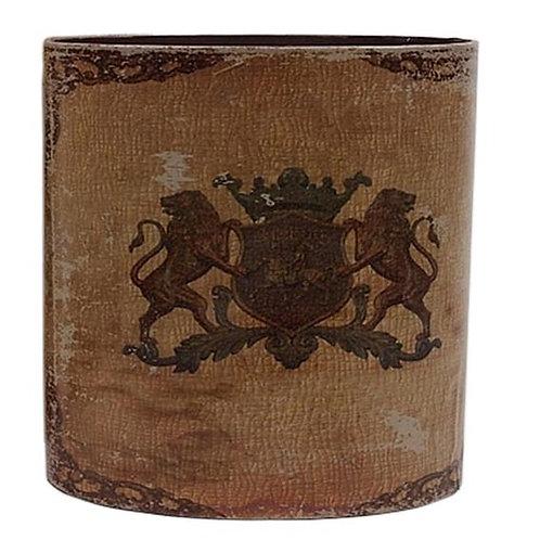 Papierkorb mit Wappen (groß)