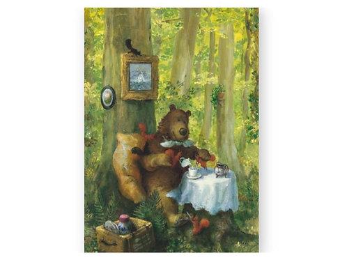 Postkarte »Coffee und Hörnchen«