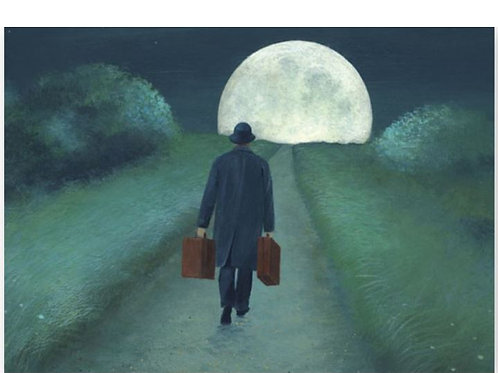 Postkarte »Full Moon Trip«