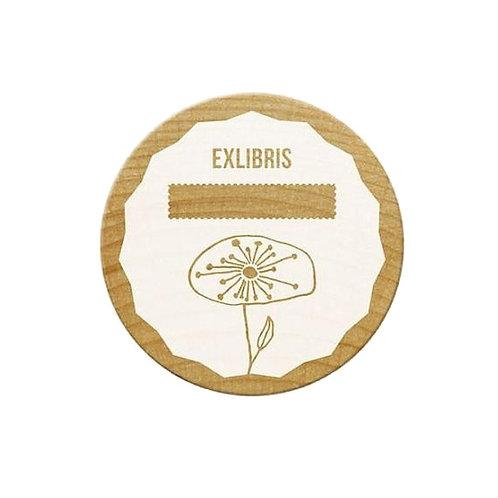 ExLibris-Stempel »Pusteblume«, rund