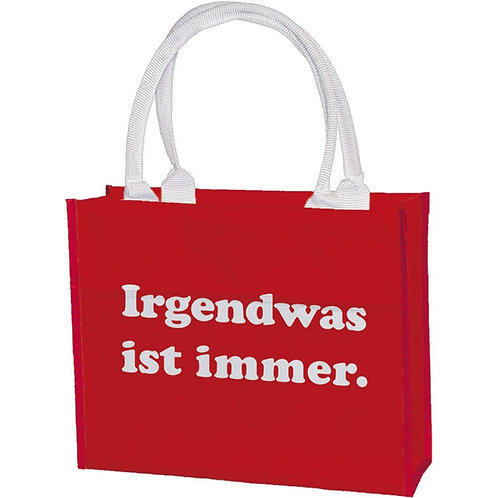 Einkaufstasche »Irgendwas ist immer«