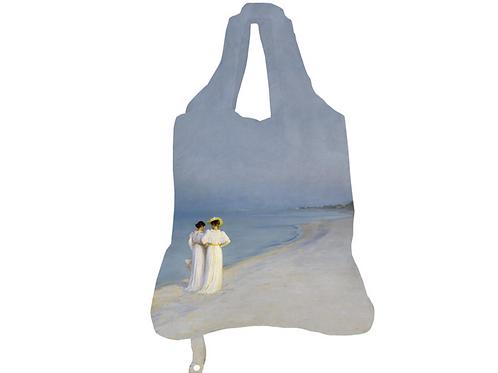 Einkaufsbeutel »Sommerabend am Strand«