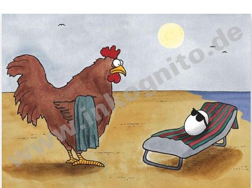 Postkarte »Das Ei war zuerst da«