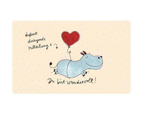 Brettchen »Du bist wundervoll«