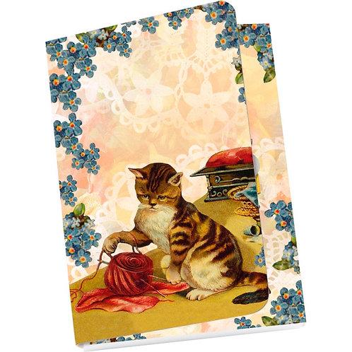 Taschennotizblöckchen »Nostalgische Katzen«