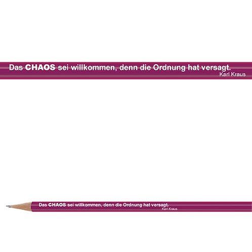 Zitate-Bleistift, Kraus, Chaos
