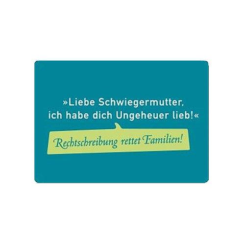 Magnet »Rechtschreibung rettet Familien«