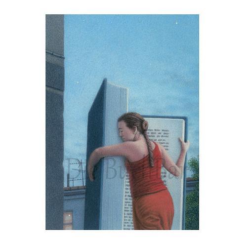 Kunstpostkarte »Lesende Frau II«