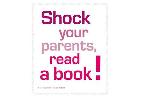 Brillenputztuch »Shock your parents«