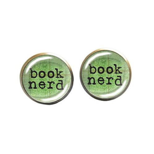 Book-Nerd-Ohrstecker, grün