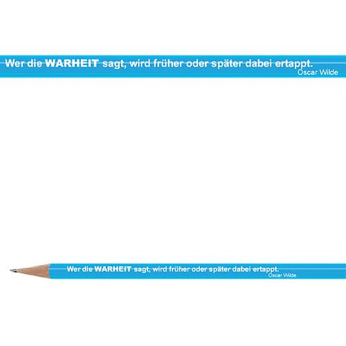 Zitate-Bleistift, Wilde, Wahrheit