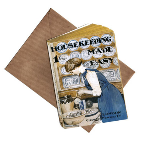 Nostalgische Karte »Housekeeping Made Easy«