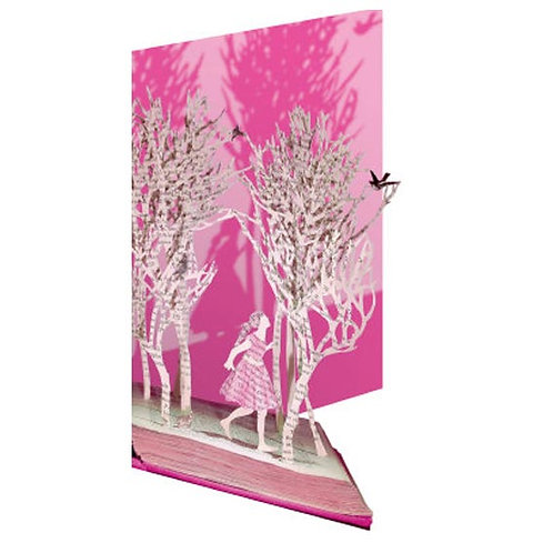 Doppelkarte »Book Art«, Enchanted Forest