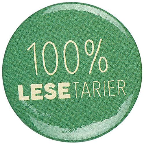 Button »100% Lesetarier«