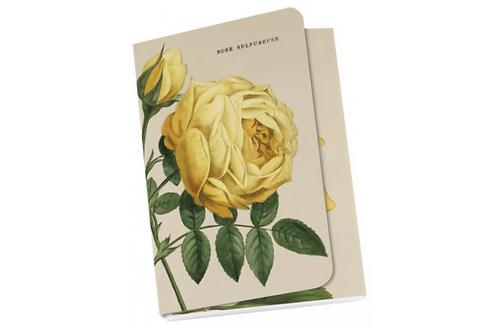 """Taschennotizblöckchen »Gelbe """"Alte Gartenrosen""""«"""