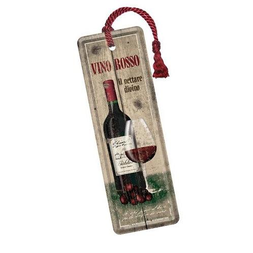 Blech-Lesezeichen »Vino Rosso«