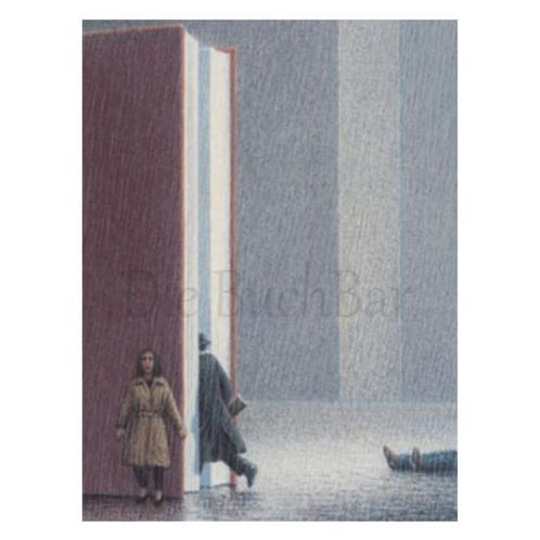 Kunstpostkarte »Erzählung im Regen«