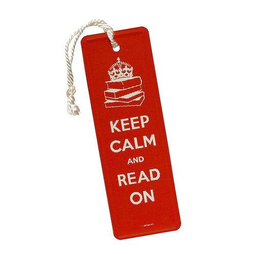 Blech-Lesezeichen »Keep Calm«