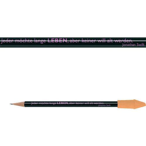 Zitate-Bleistift, Swift, Leben