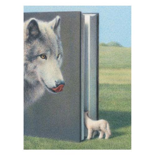 Kunstpostkarte »Wolf und Lamm«
