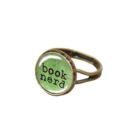 Book-Nerd-Ring, grün