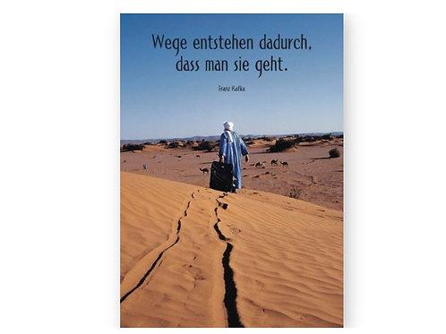 Postkarte Kafka,  »Wege«
