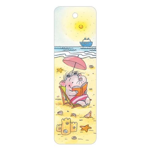 Lesezeichen »Lesefant am Strand«