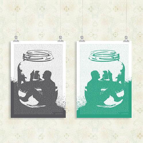 Literatur zum Verpacken »Der Geist im Glas«