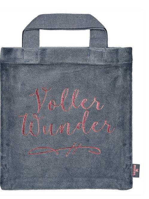 Büchertasche Samt »Voller Wunder«