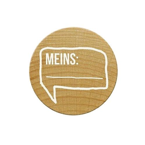 ExLibris-Stempel »Meins«, rund